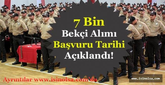 İçişleri Bakanı 7 Bin Bekçi Alımı Başvuru Tarihi Ne Zaman Sorusunu Yanıtladı!