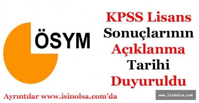 KPSS Lisans Sonuçları Tarihi Netleşti