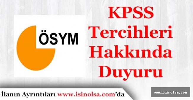 ÖSYM'den KPSS Tercihleri İle İlgili Duyuru Yayımlandı