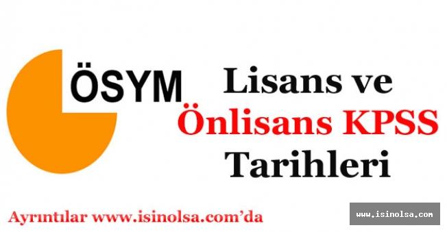 2018 KPSS Lisans ve Ön lisans Tarihleri Belli Oldu Mu?