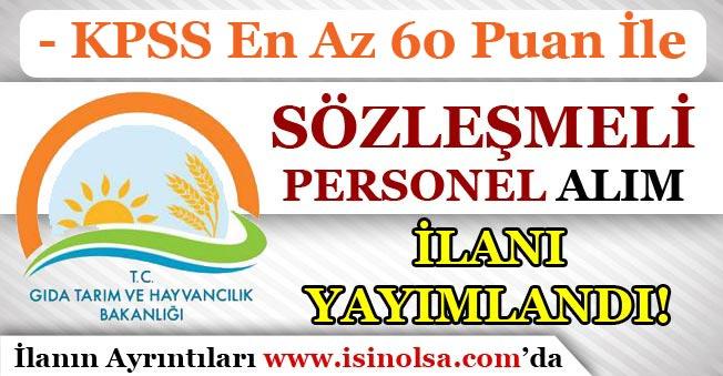 60 KPSS Puanı İle GTHB Kamu Personeli Alım İlanı Yayımladı!