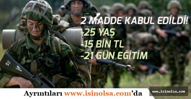 Bedelli Askerlik Süresi Belli Oldu! Komisyondan Geçti!