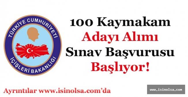 İçişleri Bakanlığı 100 Kaymakam Adayı Alımı Yapacak! Sınav Başvuruları Başlıyor
