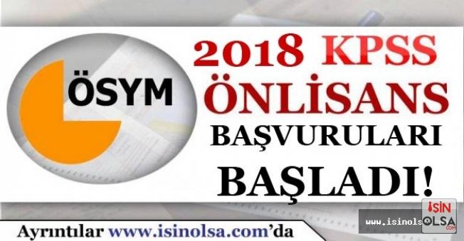 2018 KPSS Sınavının Önlisans Başvuruları Başladı