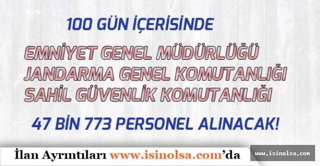 EGM, JGK ve Sahil GK'a 100 Gün İçinde 47 Bin'den Fazla Alım Yapılacak!