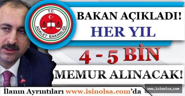 Her Sene Kasım Ayında Yaklaşık 4-5 Bin Hakim Savcı Alımı Yapılacak