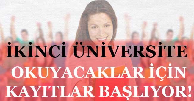 İkinci Üniversite Okumak İsteyen için 11 Eylülde Başvurular Başlıyor