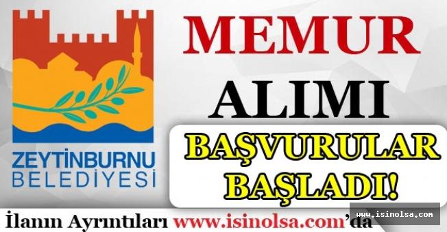 İstanbul Zeytinburnu Belediyesi Memur Alımı Başvuruları Başladı!