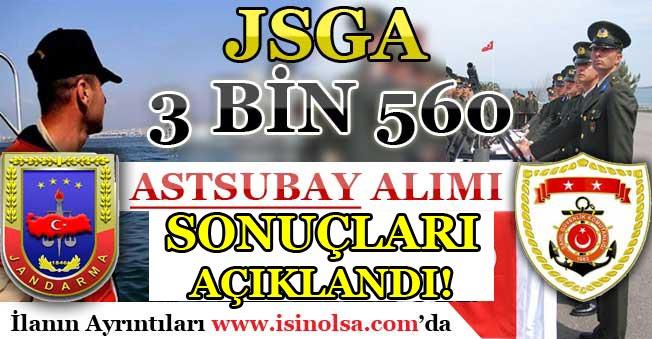 Sahil Güvenlik ve Jandarma (JSGA) 3 Bin 560 Astsubay Alımı Sonuçları Açıklandı!
