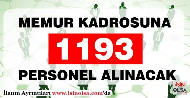 11 Alanda Memur Kadrosuna 1193 Personel Alınacak