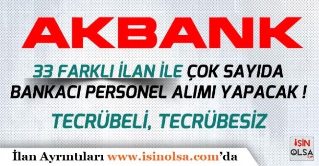 Akbank Gişe Yetkilisi ve Birçok Pozisyonda Bankacı Personel Alımı Yapacak!