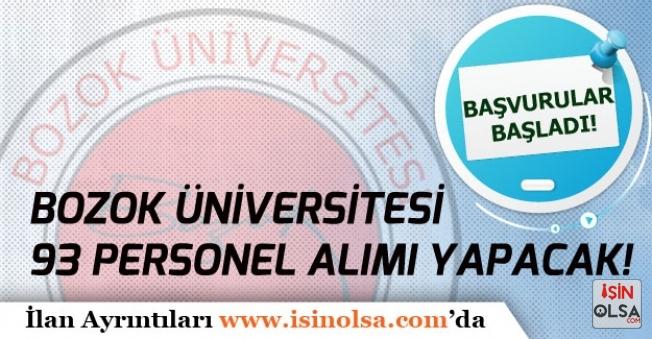 Yozgat Bozok Üniversitesi 93 Memur Alımı İlanı Yayımladı!