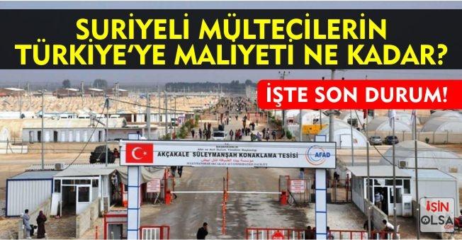 İşte Suriyeli Mültecilerin Türkiye'ye Maliyeti!