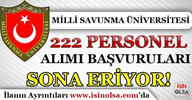 MSÜ ( Milli Savunma Üniversitesi ) 222 Personel Alımında Son Gün!