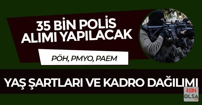 PÖH Alımı Bekleniyor! 35 Bin Polis Alımı Kadro Dağılımı ve Yaş Şartları