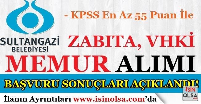 Sultangazi Belediyesi Memur Alımı Sonuçları Açıklandı!
