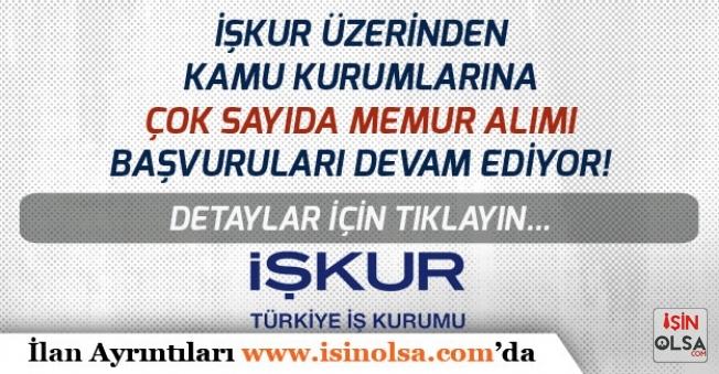 Tarım Müdürlüğü, Belediye, Üniversiteler İŞKUR Üzerinden Kamu Kurumlarına Memur Alımı Yapıyor!