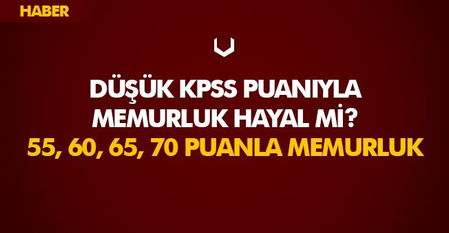 2018 Önlisans KPSS 50-55-60-70 Puanlarla Memur Alımı Yapan Kurumlar Listesi