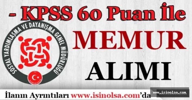 60 KPSS Puanı ile SYDV Büro Görevlisi Alıyor