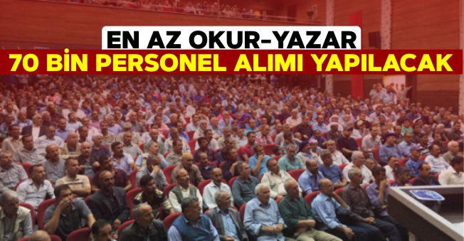 Devletten İstihdam Müjdesi! İŞKUR, En Az Okur Yazar 70 Bin Personel Alımı Yapacak!