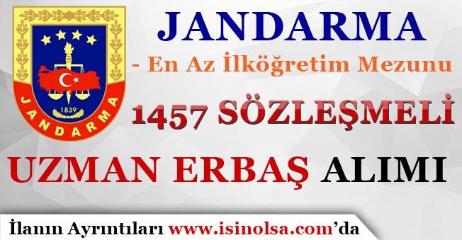 Jandarma İlkokul Mezunu 1457 Sözleşmeli Uzman Erbaş Alımı Yapıyor!