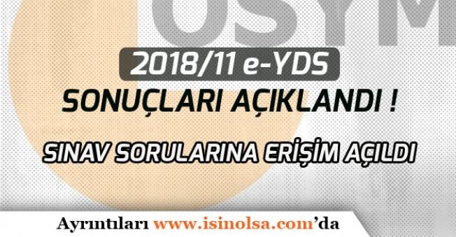 ÖSYM 2018/11 e-YDS Sınav Sonuçları Açıklandı!