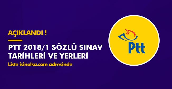 PTT 2018/1 Sözlü Sınav Tarihleri ve Yerleri Açıklandı! Tüm Liste