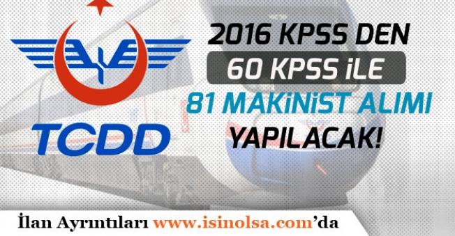TCDD Marmaray İşletme Müdürlüğüne 81 Makinist Alınacak!