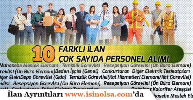 10 Farklı İlan ile Daimi Süreli Muhasebeci, İşçi, Cankurtaran, Memur Personel Alınacak!