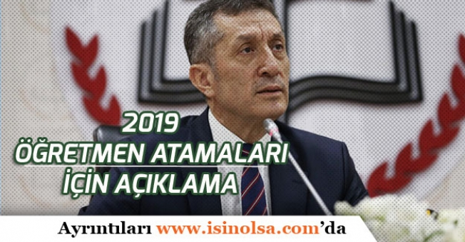 2019 Öğretmen Atamaları İçin MEB'ten Açıklama!