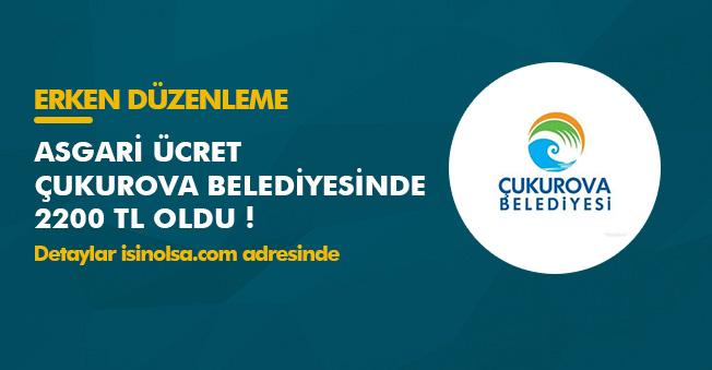 Asgari Ücrete İlk Zam Yapan Belediye Çukurova Belediyesi Oldu!