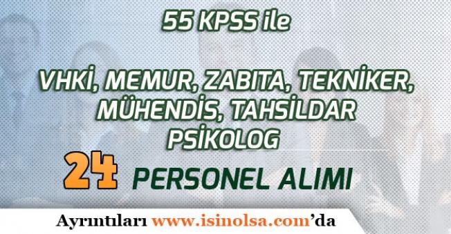 Belediye 55 KPSS ile 24 Personel Alımı Yapacak! (Memur, Zabıta, VHKİ, Teknisyen, Mühendis)