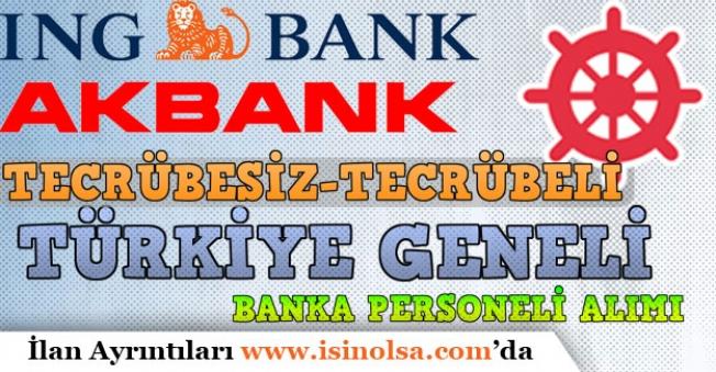 Denizbank, ING ve Akbank Çok Sayıda Banka Personeli Alımı Yapacak!