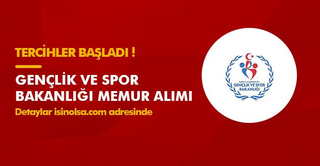 Gençlik ve Spor Bakanlığı (GSB) 65 Memur Alımı Yapacak! Tercihler Sürüyor
