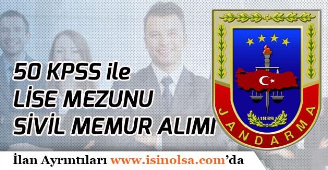 Jandarma ve Sahil Güvenlik Akademisi Lise Mezunu 50 KPSS ile Memur Alımı Devam Ediyor!