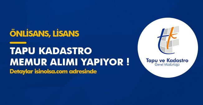 KPSS 2018/2 Tercihleri Tapu ve Kadastro Genel Müdürlüğü Memur Alımı