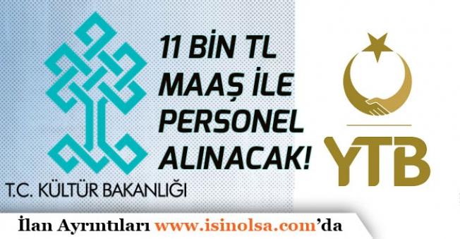 Kültür ve Turizm Bakanlığına 11 Bin Tl Maaş ile Sözleşmeli Memur Alımı!
