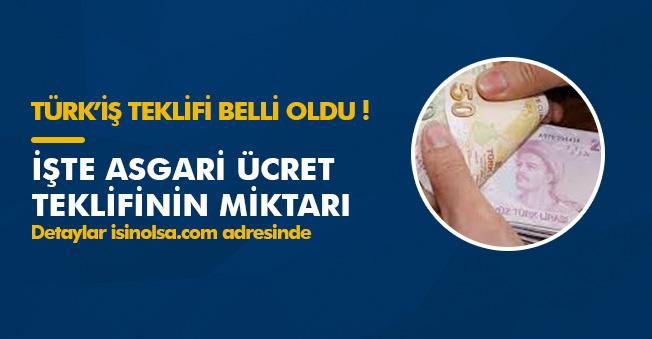 Türk-İş Asgari Ücret Teklifini Açıkladı! Komisyon Üçüncü Kez Toplanıyor