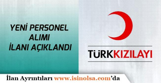 Türk Kızılayı Yeni Personel Alım İlanları Açıkladı!