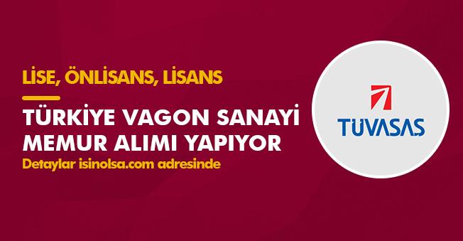 Türkiye Vagon Sanayi Memur Alımı Yapıyor! Alımlar Lise, Önlisans, Lisans Düzeyinden