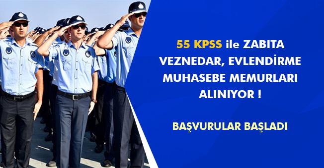 Belediyeye 55 KPSS ile Memur Alınacak! (Zabıta, Veznedar, Muhasebe Memuru Alımları)