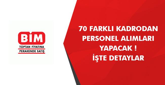BİM 70 Farklı Kadro Üzerinden Türkiye Geneli Personel Alımları Yapıyor! İlanlar Yayımlandı