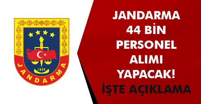 Jandarma Bünyesine 44 Bin Personel Alımı! Kadro Detayları