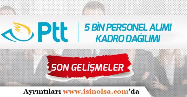 KPSS Şartı Olmadan 2019 PTT 5 Bin Personel Alımları Muhtemel Kadro Dağılımı!