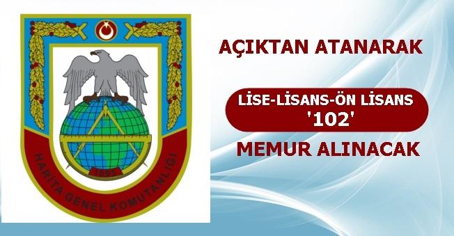 MSB Harita Genel Müdürlüğü 100 Memur Alımı Yapıyor