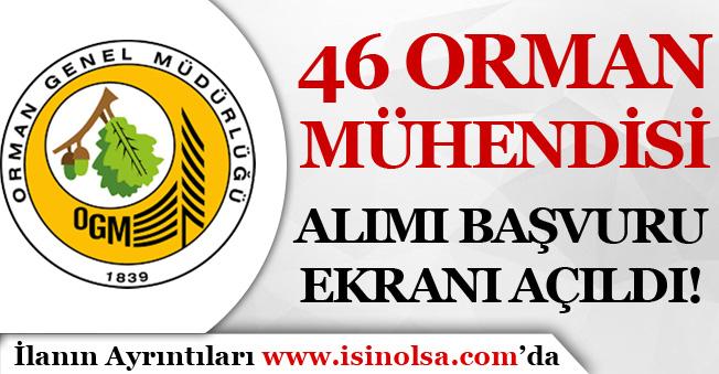 OGM ( Orman Genel Müdürlüğü ) 46 Orman Mühendisi Başvuru Ekranı Açıldı!