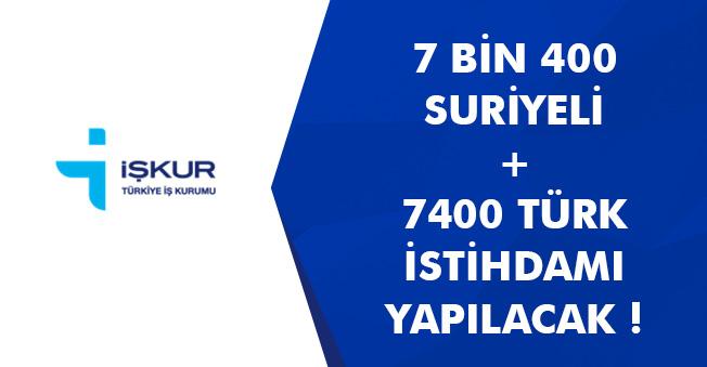 Son Dakika: 7 Bin 400 Suriyeli, 7 Bin 400 Türk İstihdam Edilecek! İşte Detaylar