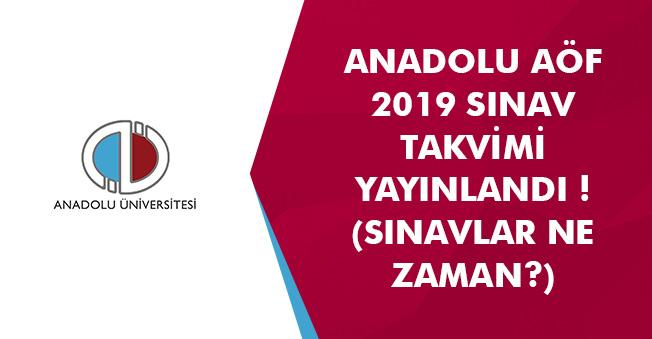 AÖF 2019 Yılı Güncel Sınav Takvimi (Vize ve Finaller Ne Zaman?)