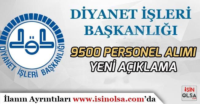 Diyanet 9500 Personel Alımı İçin Yeni Açıklama!