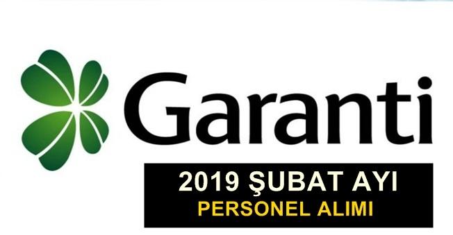 Garanti Bankası Şubat Ayı Personel Alımları 2019